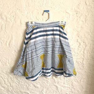 Plenty by Tracy Reese Blue, Yellow & Cream Skirt S